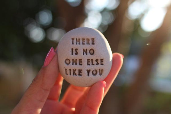 Motivational gift Ceramic pebbles