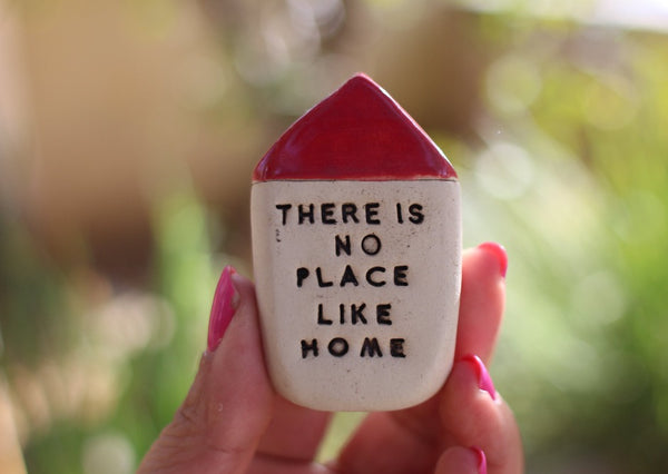 Miniature house Ceramic house Family gift There is no place like home