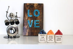 Inspirational quote Motivational quotes Personal gift Miniature house You only live once - Ceramics By Orly  - 5