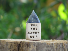 Will you marry me miniature house - Ceramics By Orly  - 2