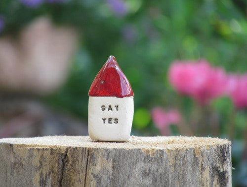 Pop the question – Say Yes Message haouse - Ceramics By Orly  - 1