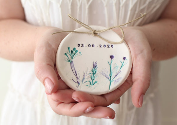 Botanical Wedding ring dish
