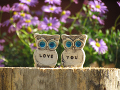 Love you owls - Ceramics By Orly  - 2