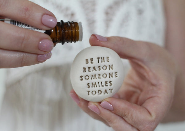 Essential oil diffuser Stone gifts, Motivational gift, Ceramic pebbles