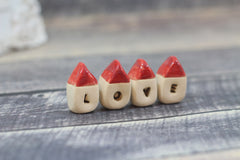 Miniature LOVE houses - Ceramics By Orly  - 2