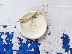 PURE LOVE wedding ring dish - Ceramics By Orly  - 1