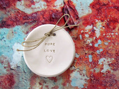PURE LOVE wedding ring dish - Ceramics By Orly  - 2