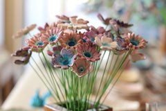 Ceramic Flowers for home decor (set of 5 ) - Ceramics By Orly  - 5