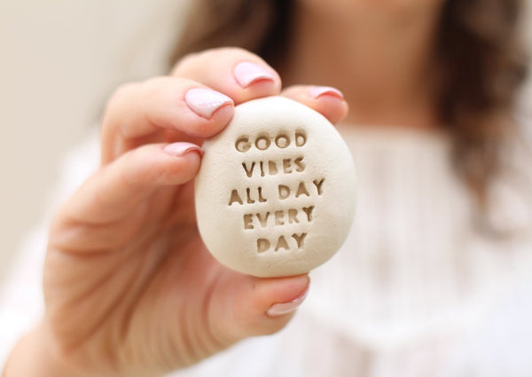 Inspirational stones, Stone gifts, Ceramic pebbles