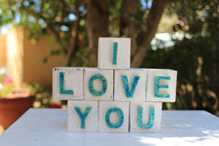 Handmade wooden letter blocks Please wooden blocks - Ceramics By Orly  - 8