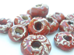 Red ceramic beads - Ceramics By Orly  - 4