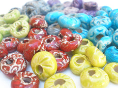 Colorful ceramic beads - Ceramics By Orly  - 9