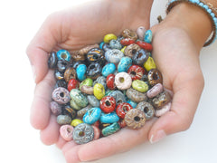 Colorful ceramic beads - Ceramics By Orly  - 5