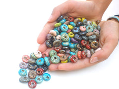 Colorful ceramic beads - Ceramics By Orly  - 3