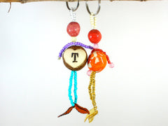 Personalized Beaded Doll Monogrammed Ornament Keepsake - Ceramics By Orly  - 4
