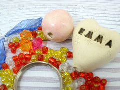 DIY Personalized heart beaded doll kit - Ceramics By Orly  - 4