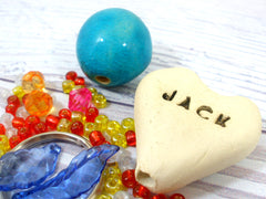 DIY Personalized heart beaded doll kit - Ceramics By Orly  - 2