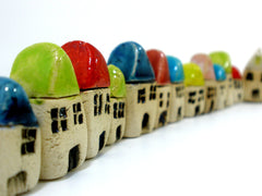 A set of 3 miniature houses - Ceramics By Orly  - 2