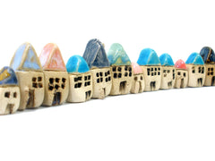 A set of 3 miniature houses - Ceramics By Orly  - 4
