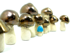 Gold mushrooms - Ceramics By Orly  - 2