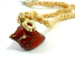 Bird necklace in a color of your choice - Ceramics By Orly  - 1