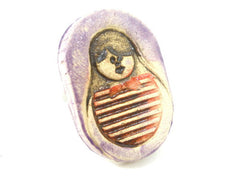 Matryoshka Babushka ring - Ceramics By Orly  - 4
