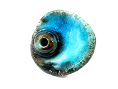 Aqua ceramic ring - Ceramics By Orly  - 4