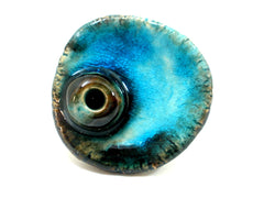 Aqua ceramic ring - Ceramics By Orly  - 3