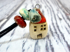 Home sweet home ceramic jewelry - Ceramics By Orly  - 3