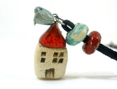 Home sweet home ceramic jewelry - Ceramics By Orly  - 1