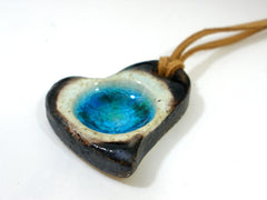 Ceramic jewelry – Heart necklace - Ceramics By Orly  - 2
