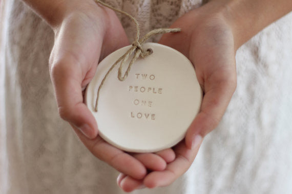 Two people one love Wedding ring dis - Ceramics By Orly  - 1