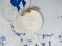 Two people one love Wedding ring dis - Ceramics By Orly  - 2