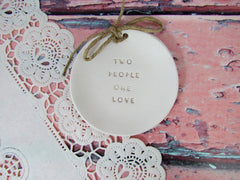Two people one love Wedding ring dis - Ceramics By Orly  - 3