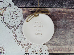Two people one love Wedding ring dis - Ceramics By Orly  - 4