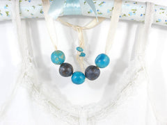 Beaded ceramic necklace in a color of your choice - Ceramics By Orly  - 4