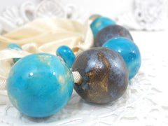 Beaded ceramic necklace in a color of your choice - Ceramics By Orly  - 3