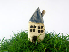 A tiny rustic ceramic beach cottage in a color of your choice - Ceramics By Orly  - 7