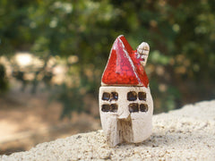 A tiny rustic ceramic beach cottage in a color of your choice - Ceramics By Orly  - 6
