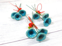 Ceramic flowers boutonniere in a color of your choice - Ceramics By Orly  - 3