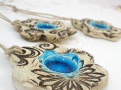 Ceramic flower ornaments - Ceramics By Orly  - 4