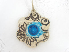 Ceramic flower ornaments - Ceramics By Orly  - 3