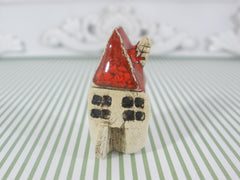 A tiny rustic ceramic beach cottage in a color of your choice - Ceramics By Orly  - 4