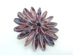 A huge ceramic flower ring - Ceramics By Orly  - 2