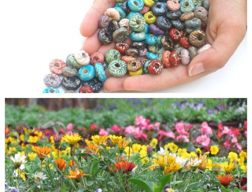 Colorful ceramic beads