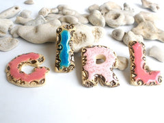 Designed letters in a color of your choice - Ceramics By Orly  - 3