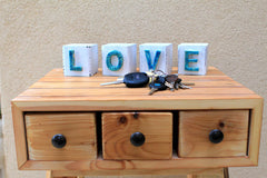 Handmade wooden letter blocks Love wooden blocks - Ceramics By Orly  - 4