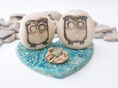 Owls wedding cake topper - Ceramics By Orly  - 2