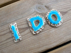 I DO letters Weddings decor I DO cake topper Ceramic letters Wedding prop - Ceramics By Orly  - 1
