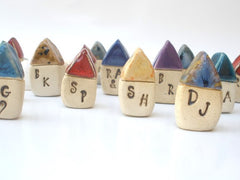 Personalized ceramic tiny house with your initials - Ceramics By Orly  - 4